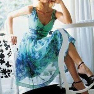 [Elevenses] Anthropologie Organdy silk tea dress